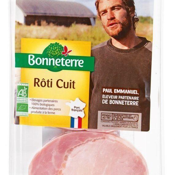 Roti cuit 3 tranches France 120 G Bonneterre
